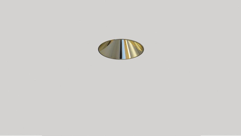 led downlight anti-glare gold finish