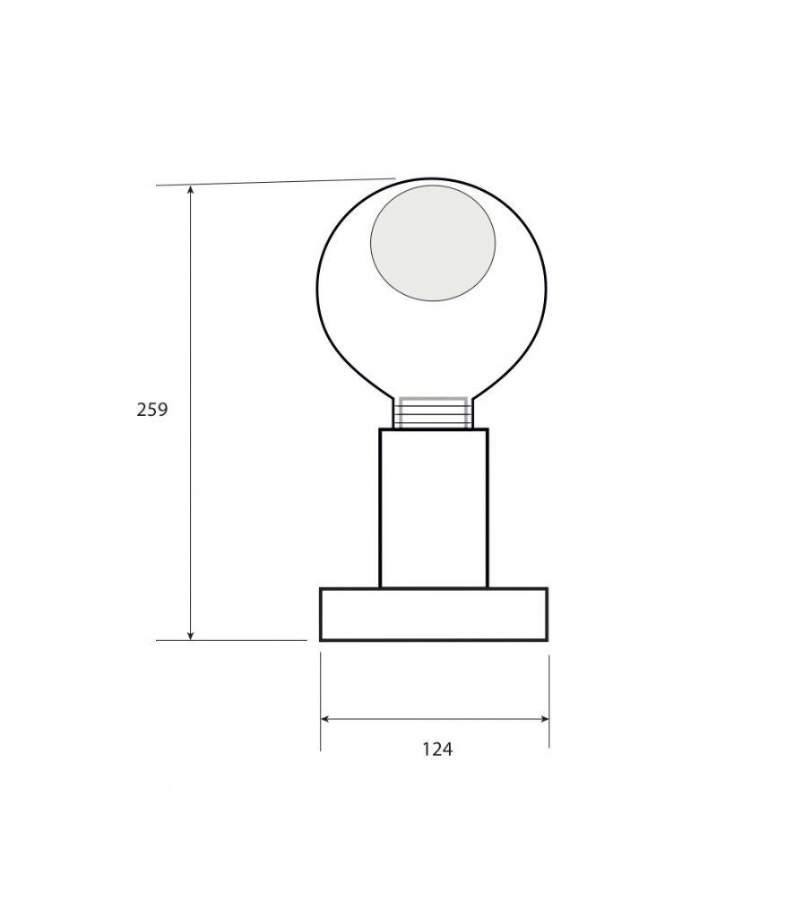 misure lampada ll-aire 8W
