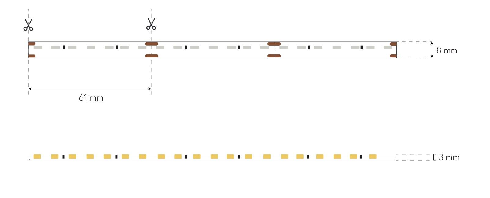dimensioni led strip side