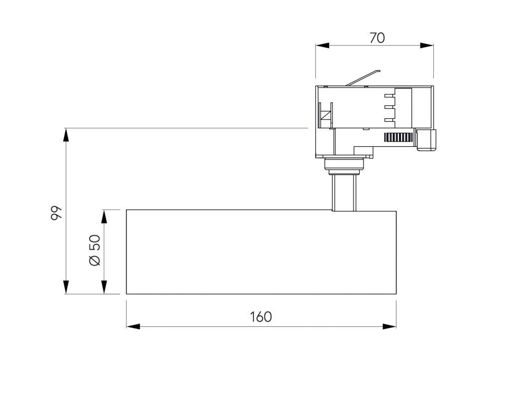 dimensioni tiito 8W proiettore led