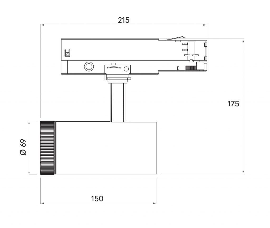 dimensioni ZUNA 20 69x150mm