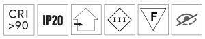 simboli ll-bit spot aggiustabile led